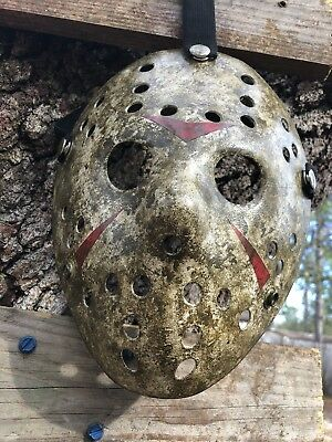 Jason Voorhees Dirtied Mossy Mask Custom Painted -high Quality-