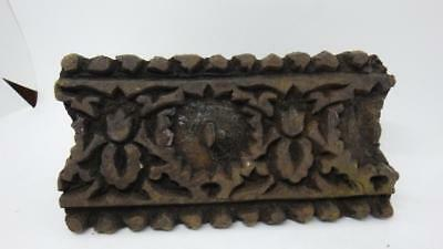 Antique Primitive Decorative Printing Block Carved Wood Textile Wallpaper Stamps
