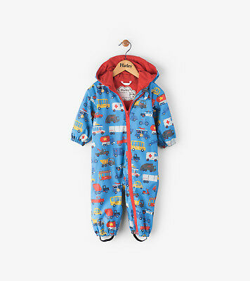 Hatley Rain Overall Size 9-12 M,12-18 M New Rush Hour New