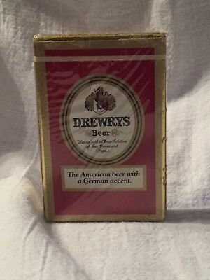 Vintage 1970 Drewrys Beer NOS Unopened Deck Playing Cards