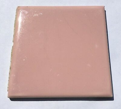 Pink 'Pilkington England' 4x4 Vintage Ceramic Tile - 1 Sq Ft - Salvaged