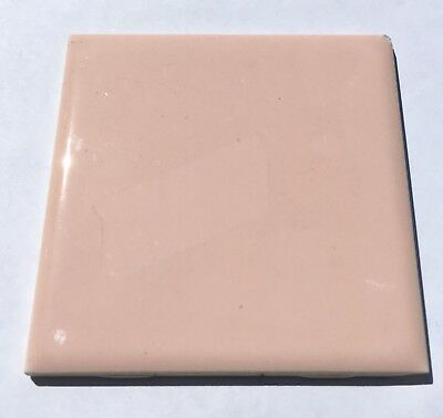 Peach/Coral 4x4 'American Made in USA' Vintage Tile -1 Sq Ft- Surplus