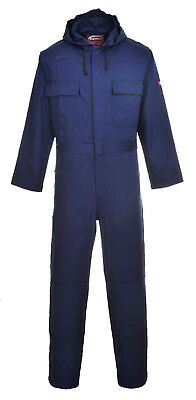 Portwest Bizweld Hooded Coverall Welding Flame Resistant Hood Drawcord BIZ6