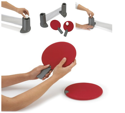 UMBRA RED Pongo Portable Ping Pong Game Set uses any table/compact ...