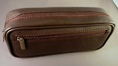 Diabetic Insulin Pen & Glucometer / Glucose meter quality BROWN leather case
