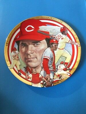 """JOHNNY BENCH """"The Best of Baseball"""" Plate Hamilton Collection w/COA"""
