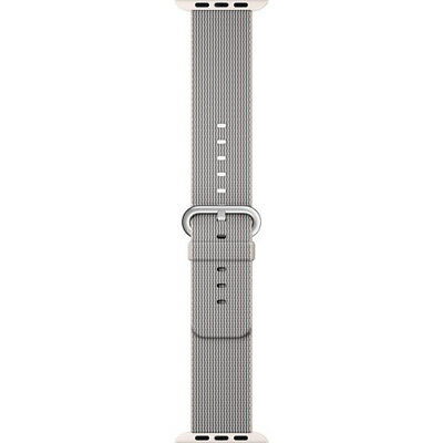 Apple - Woven Nylon for Apple Watch 42mm - Pearl MMA72AM/A *FREE SHIPPING*
