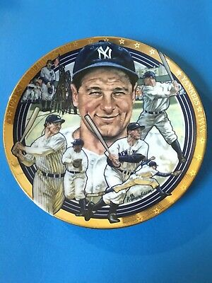 """LOU GEHRIG """"The Best of Baseball"""" Plate Hamilton Collection w/COA"""