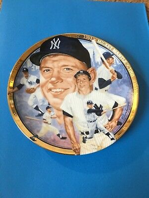 """MICKEY MANTLE """"The Best of Baseball"""" Plate Hamilton Collection w/COA"""
