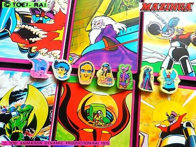 👾 MAZINGA Z Vintage anime cartoon マジンガーZ 1979 TOEI 6 QUADERNI +7 GOMMINE eraser