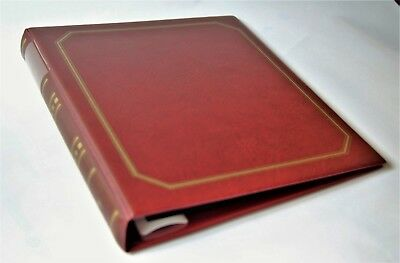 Mercury FDC Album, Red. 10 x 2 pocket double sided pages  First Day Cover Album