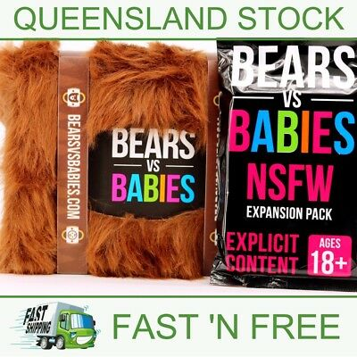 Bears vs Babies Party Game & NSFW EXPANSION PACK - AUS Stock