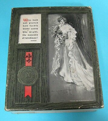 Vintage Stationery or  Card Box Only Victorian Woman Poem by Byron