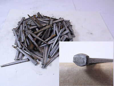 Lot 120 old unused square head steel cut nails 2  in. long. rusty film nice!