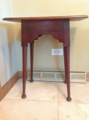 Antique Arts And Crafts Accent Table, Plant Stand, 21 In. W,14 In. D, 2 Ft High