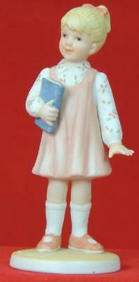 """FRANCES HOOK  #2636 """"For a Mothers Love"""" Girl w/ Book Signed 1987 Hallmark (c)"""