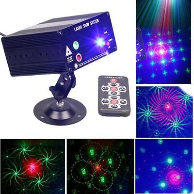 12V 48Pattern Effect Laser Projector RGB DJ Light Stage Lighting Show Xmas Party