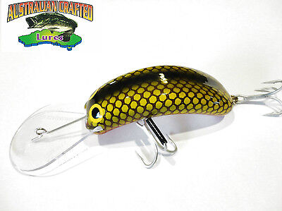 Australian Crafted Lures- cod 90mm invader Green carp col;46 20ft a.c.lures
