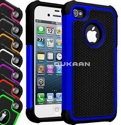 New Hybrid Rugged Rubber Hard Case Back Cover Dual Layer For Apple iPhone SE, 5C