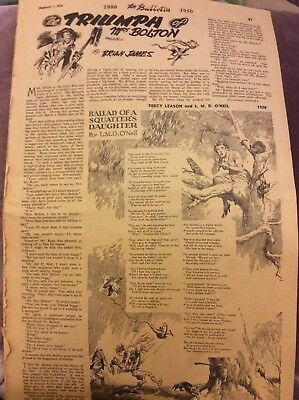Bulletin Page - Ballad of a Squatter's Daughter - 1950