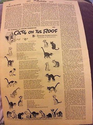 Bulletin Page - Cats on the Roof - 1950
