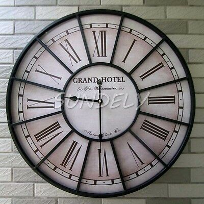 Style Wall Clock In Antique Vintage French Cream Perfect Country Kitchen Clock
