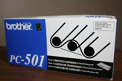 Genuine Brother PC-501 Printing Cartridge New Sealed fax-575 printer ink