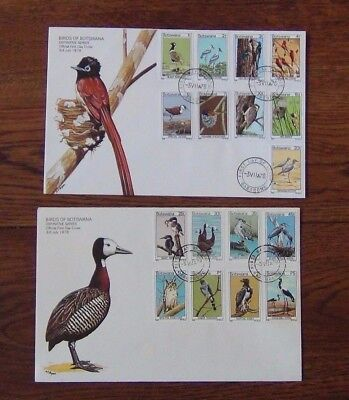 Botswana 1978 Birds set to 5p on First Day Cover