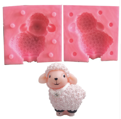 3D Sheep Fondant Cake Silicone Mold Soap Chocolate Mould Clay Resin Baking DIY