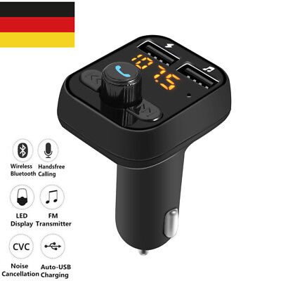 LCD Display Bluetooth FM Transmitter Auto MP3 Player Freisprechanlage USB Stick