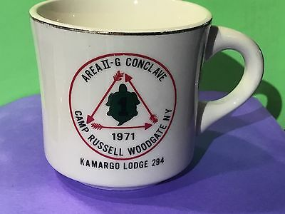 Order of the Arrow 1971 Area II-G Conclave Coffee Cup Mug Kamargo Lodge 294
