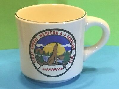 1973 First Annual Western 4-A Conclave Order of the Arrow Coffee Mug, Beautiful
