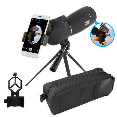 25-75X70 Zoom Angled Spotting Scope Waterproof Optic Prism With Tripod & Adapter