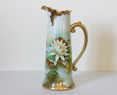 STOUFFER Hand-Painted PITCHER or Tankard Signed Samuel Heap Jean Pouyat Limoges