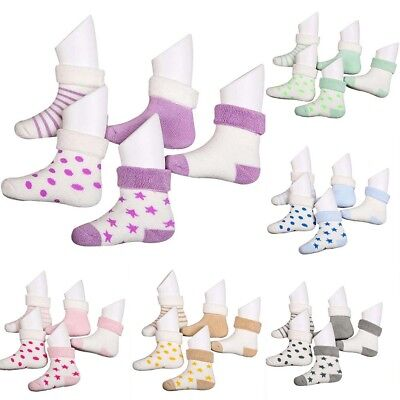 Baby born Infant Kids Toddler Cotton Thick Warmer Winter Soft Socks