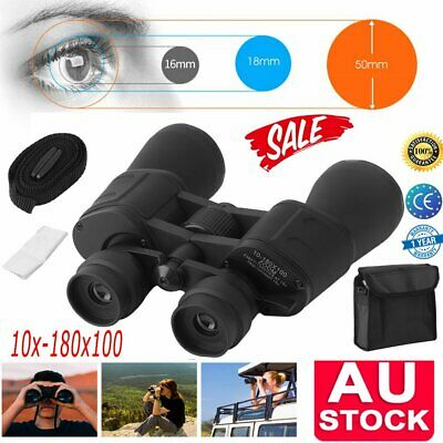 Professional Adjustable 20x-180x100 Zoom Binoculars Night Vision HD Telescope AU