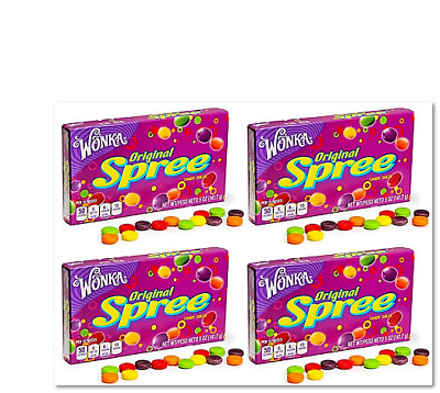 903181 4 x 141.7g BOXES OF WONKA'S FAMOUS ORIGINAL SPREE COLOURFUL CANDY! USA