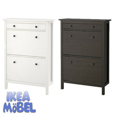 ikea hemnes schuhschrank 2fach in 2 farben 89x127cm eur 145 00 picclick de. Black Bedroom Furniture Sets. Home Design Ideas