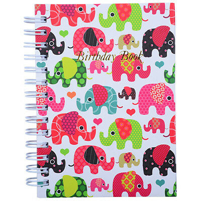 Cumberland Birthday Book 130 x 90mm Casebound - Elephant Design