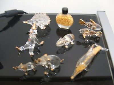 Crystal Figurines With Gold Trims (8)
