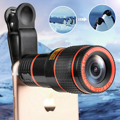 Universal HD 12x Optical Zoom Clip-on Telescope Camera Lens Cellphone Gifts Len