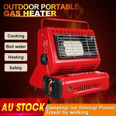 2KW Portable Butane Gas Heater Camping Camp Tent Hiking Outdoor Camper Heat NSW