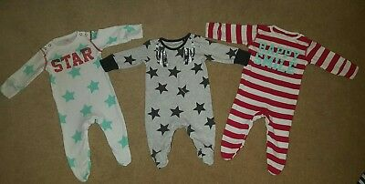 Up To 1 Month Sleepsuit All In One Babygrow Playsuit Next Bundle Star Headphones