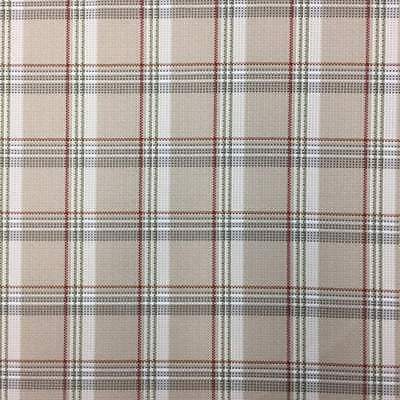 Retro Beige Plaid Upholstery Drapery Fabric 54 W By The Yard