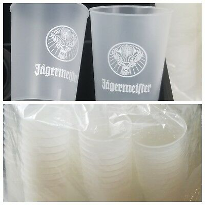 Jagermeister 100 Plastic Disposable Cups, 1.5 oz Small Jager Shooter Jello Shots