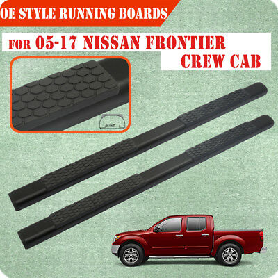 "Fit 04-17 Nissan Frontier Crew Cab 5"" Running Board Nerf Bar Side Step BLK DA"