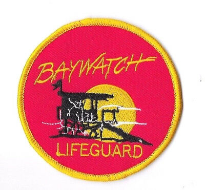 BAYWATCH IRON ON / SEW ON PATCH Embroidered Badge Motif Cosplay LIFEGUARD PT155
