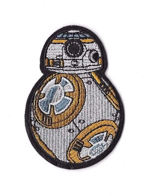 BB-8 Iron on / Sew on Patch Embroidered Badge Motif Movie Star Wars PT177