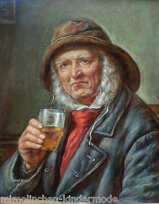 Old Sailor by Hvroy Melkus (1924 Zagreb) Top Oil Painting Portrait with Flair