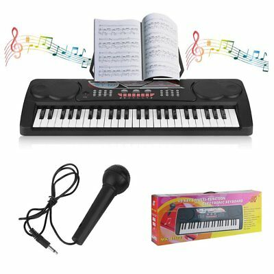Digital 49 Tasten Einsteiger Keyboard E-Piano Klavier 16 Sounds Mit Mikrofon Mic